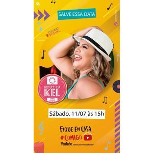 Kel Monalisa comemora aniversário em Live dia 11 de julho