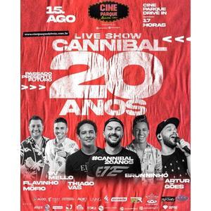 1º show drive-in de Alagoas vai comemorar os 20 anos da bandaCannibal, no próximo sábado (15)