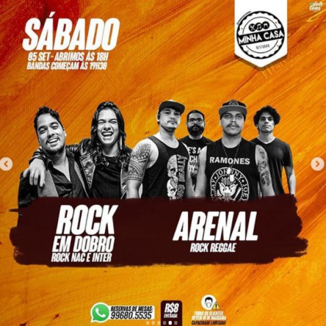 Rock em Dobro (Rock Nac e Inter) e Arenal Rock Reggae