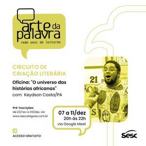 Sesc Alagoas abre inscrição para a última oficina do Arte da Palavra