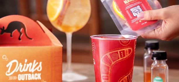 Outback lança experiência Do It Yourself para que clientes façam drinks da marca em casa