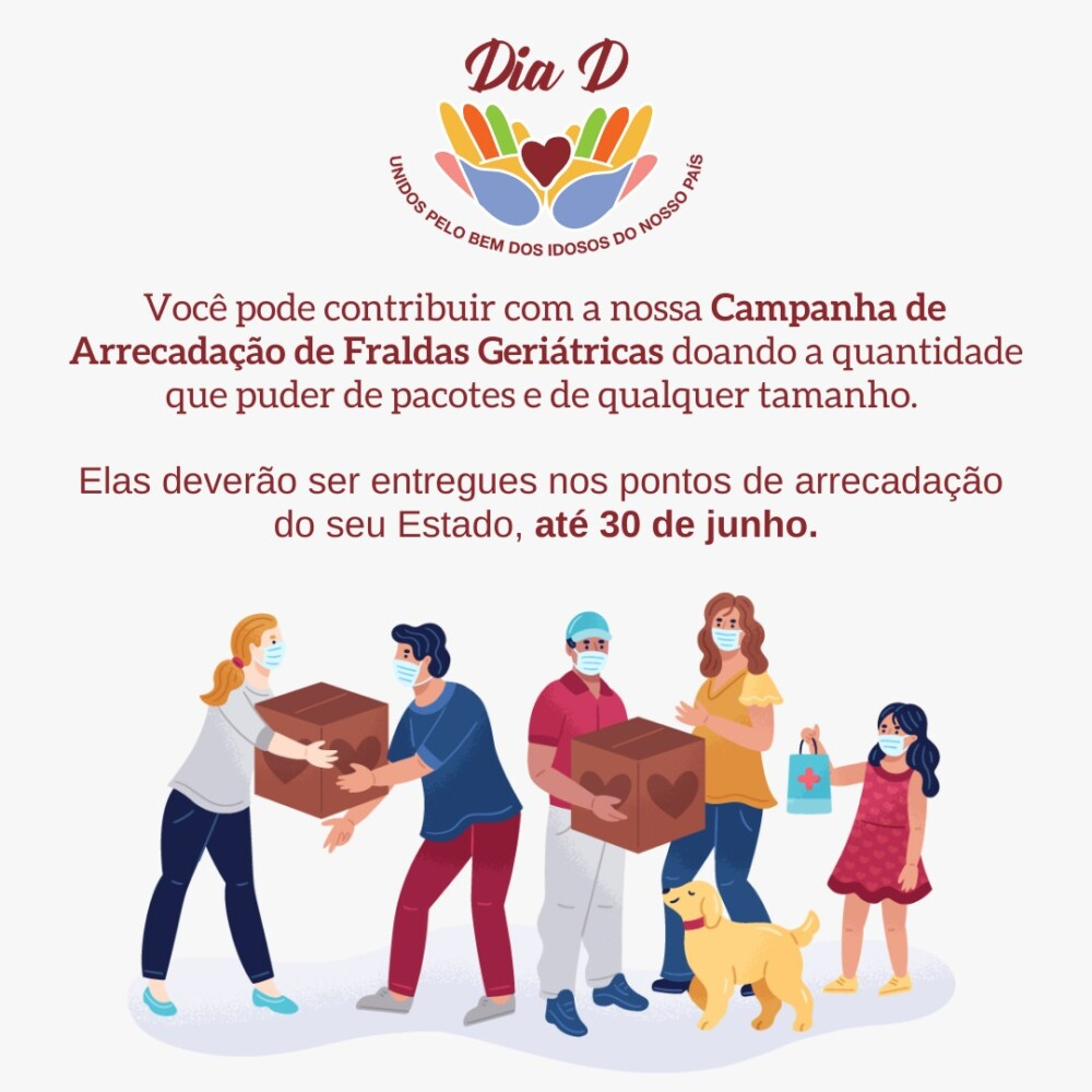 PVCC lança campanha de arrecadação de fraldas geriátricas para doar em abrigos de Maceió e Arapiraca