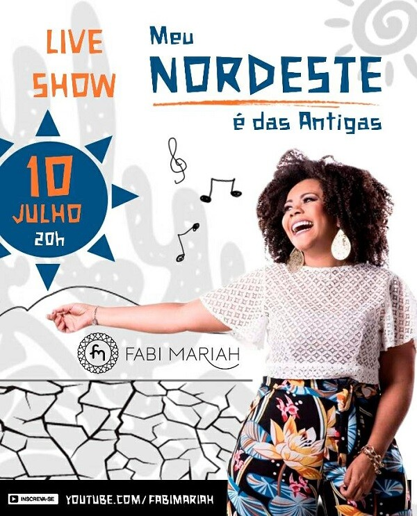 """Meu Nordeste é das antigas"": live de Fabi Mariah promete animar alagoanos na noite desta sexta-feira"